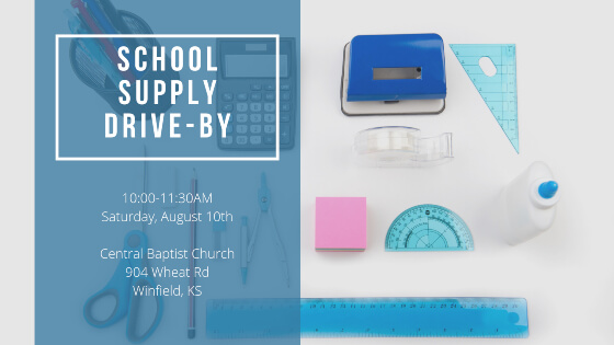 School Supply Drive-By, Saturday, August 10th