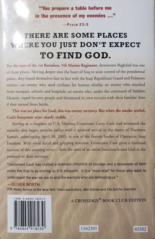 """Back Cover of the Book, """"The Presence of My Enemies"""""""