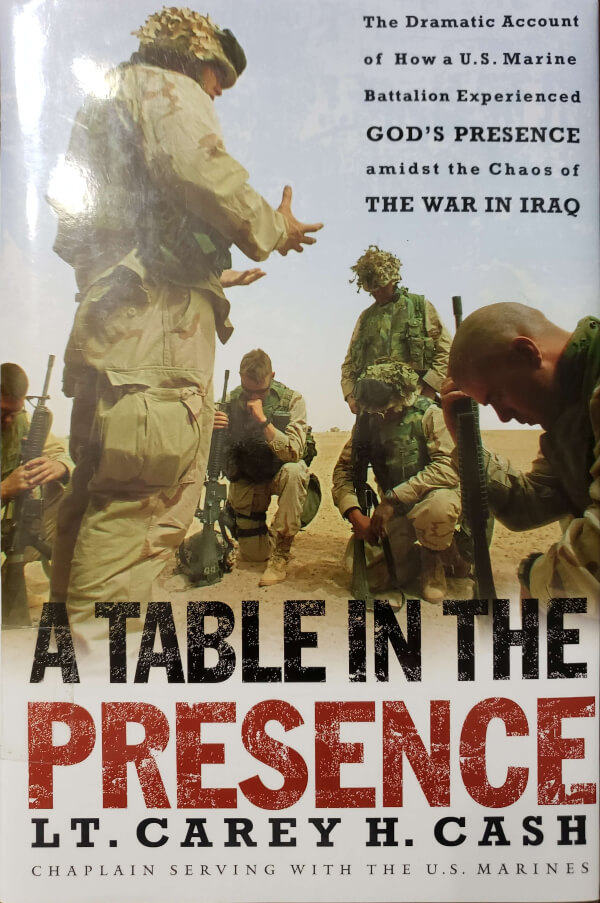 """Front Cover of the Book, """"A Table in the Presence"""""""