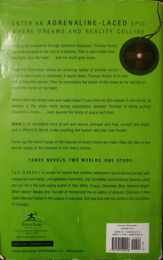 """Back Cover of the book, """"Black"""""""