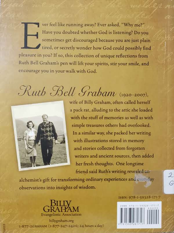 """Back Cover of the Book, """"Letters from Ruth's Attic"""""""
