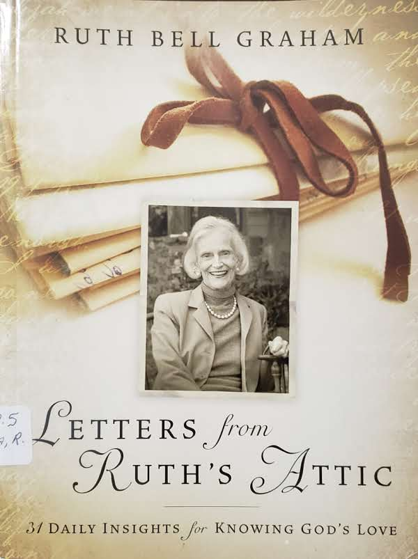 """Front Cover of the Book, """"Letters From Ruth's Attic"""""""