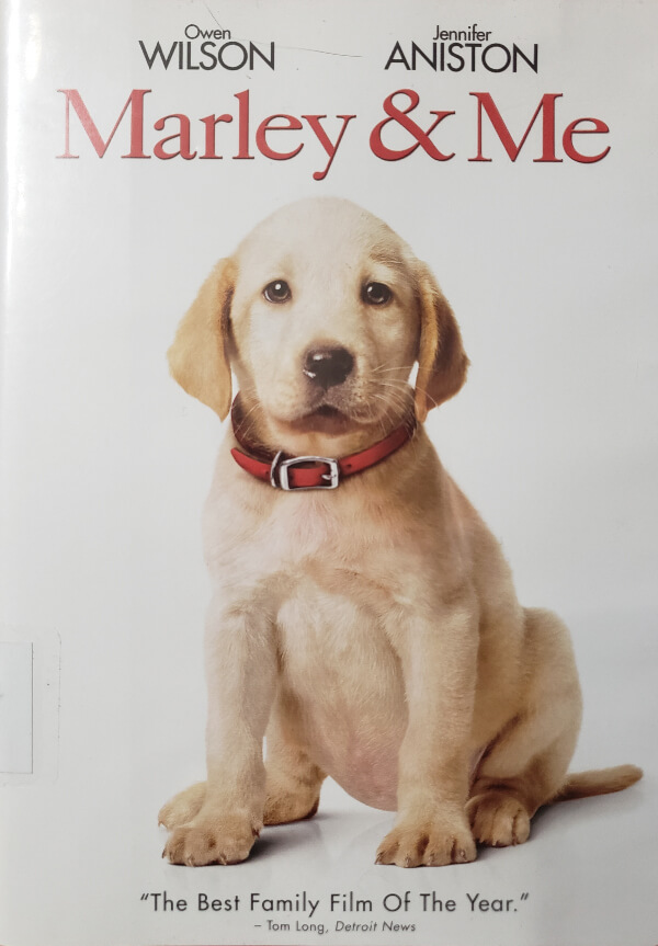 """Front Cover of the DVD, """"Marley & Me"""""""