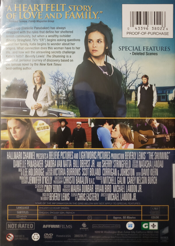 """Back Cover of the DVD, """"The Shunning"""""""