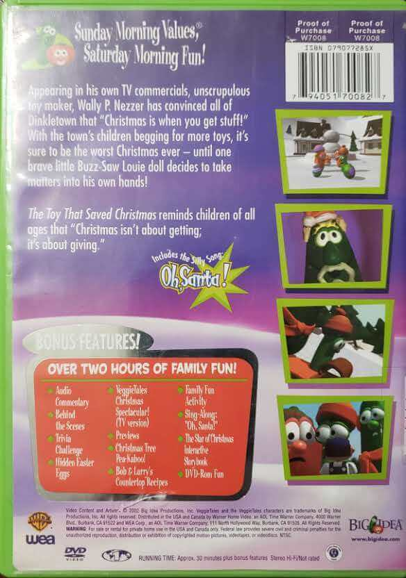 "Back Cover of the DVD, ""The Toy That Saved Christmas"""